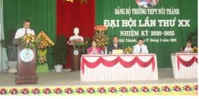 Đảng bộ Trường THPT Núi Thành tổ chức Đại hội lần thứ XX nhiệm kỳ 2020 - 2025 thành công tốt đẹp
